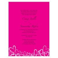 Contempo Hearts Wedding Invitations