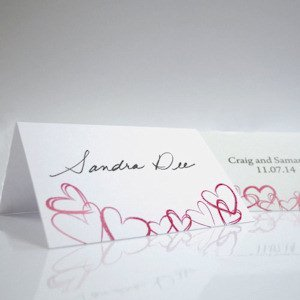 Contempo Hearts Tented Place Cards (Set of 6) image
