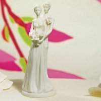 Bride & Groom Couple Porcelain Contemporary Figurine