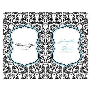 Personalized Love Bird Damask Program Paper image