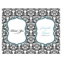 Personalized Love Bird Damask Program Paper