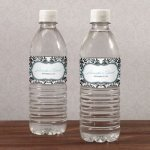 Love Bird Damask Water Bottle Labels (Set of 10)