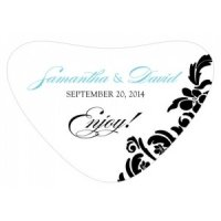 Damask Heart Container Sticker (18 Colors)