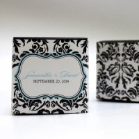 Love Bird Damask Favor Box Wrap (Set of 20)