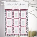 Love Bird Damask Seating Chart Kit (18 Colors)