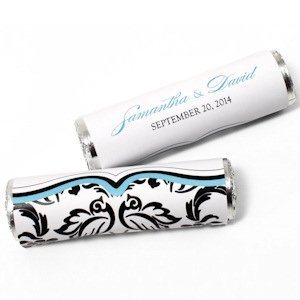 Love Bird Damask Candy Roll Wrap (Set of 24) image