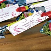 French Whimsy Small Rectangular Tag (Set of 20)