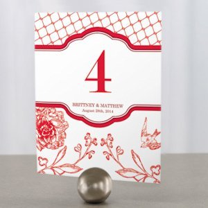 French Whimsy Wedding Reception Table Number image