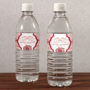 French Whimsy Wedding Water Bottle Labels (10) image