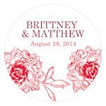 French Whimsy Personalized Round Stickers