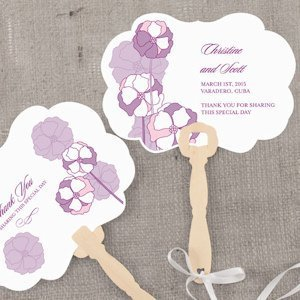 Pinwheel Poppy Personalized Hand Fan (6 Colors) image