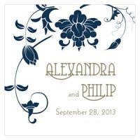 Floral Orchestra Personalized Square Tag