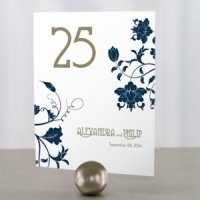 Floral Orchestra Personalized Table Numbers