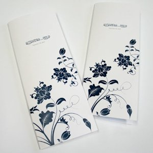 Personalized Floral Orchestra Wedding Program image