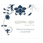 Floral Orchestra Rectangular Favor Stickers
