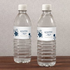 Floral Orchestra Wedding Water Bottle Labels image