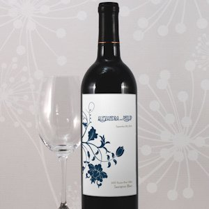 Floral Orchestra Wine Labels for Weddings (8) image