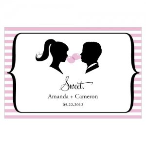 Sweet Silhouettes Large Favor Tag (Set of 12 - 10 Colors) image