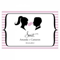 Sweet Silhouettes Large Favor Tag (Set of 12 - 10 Colors)