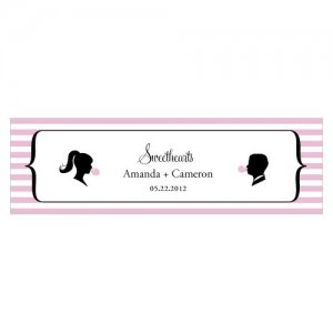Sweet Silhouettes Small Favor Tag (Set of 20 - 10 Colors) image