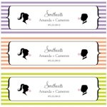 Sweet Silhouettes Small Favor Tag (Set of 20 - 10 Colors)