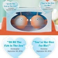'Of All The Fish In The Sea' Personalized Bubble Stickers