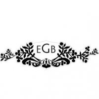 Monogram Black and White Damask Sticker