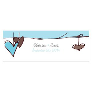 Heart Strings Small Rectangular Tags (3 Colors) image