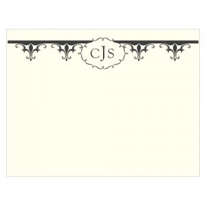 Fleur De Lis Blank Note Cards (Set of 6 - 7 Colors) image