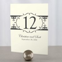 Fleur De Lis Wedding Reception Table Numbers