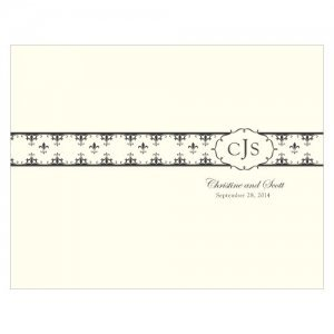 Personalized Fleur De Lis Program Paper (7 Colors) image