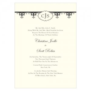 Fleur De Lis Custom Wedding Invitations (7 Colors) image