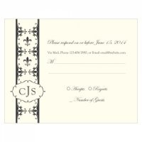 Fleur De Lis RSVP Cards (Set of 8 - 7 Colors)