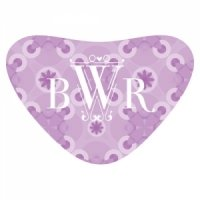Floral Pattern Heart Container Sticker (2 Colors)