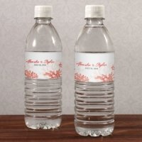 Reef Coral Water Bottle Labels (Set of 10 - 8 Colors)