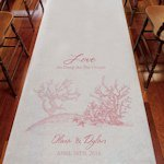 Reef Coral Personalized Aisle Runner (8 Colors)