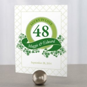 Luck of the Irish Table Number Cards (5 Colors) image