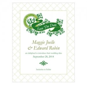 Luck of the Irish Save the Date Cards (Set of 8) image