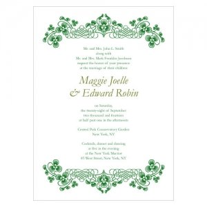 Luck of the Irish Wedding Invitations (Set of 4) image