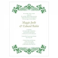 Luck of the Irish Wedding Invitations (Set of 4)