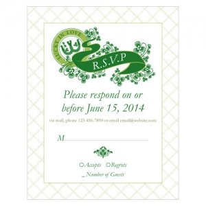 Luck of the Irish RSVP Cards (Set of 8 - 5 Colors) image