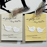 Love Birds Personalized Wedding Seed Favor Card (Sets of 12)