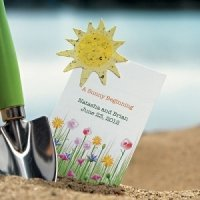 A Sunny Beginning Card with Seed Paper Sun (Set of 12)