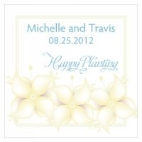 Happy Planting Personalized Favor Card (Set of 10)