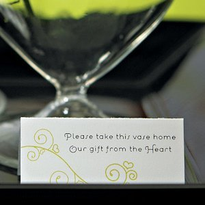 Personalized Bud Vase Instruction Card image