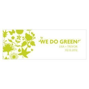Personalized 'We Do Green' Favor Tags image