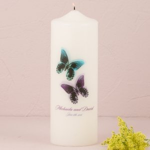 Beautiful Butterflies Personalized Unity Candle image