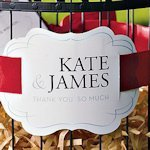 Personalized Die-Cut Paper Medallion (Sets of 2-Many Colors)