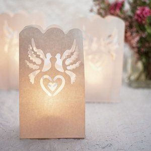 White Dove Wedding Luminaries image