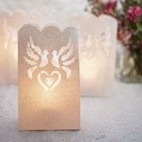 White Dove Wedding Luminaries